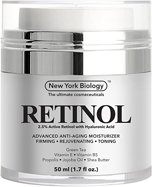 Retinol Cream for Face with Hyaluronic Acid - Daily Moisturizer Cream Helps Fight Signs of Aging and Get Rid of Wrinkles from Face and Eye Area 1.7 fl oz
