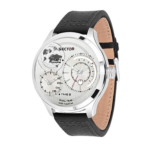 SECTOR NO LIMITS Reloj Multiesfera para Hombre de Cuarzo con Correa en Cuero R3251504002: Amazon.es: Relojes