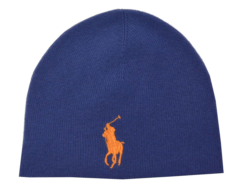 d0d3ac09d85 Amazon.com  Polo Ralph Lauren Men Big Pony Merino Watch Hat (OS ...
