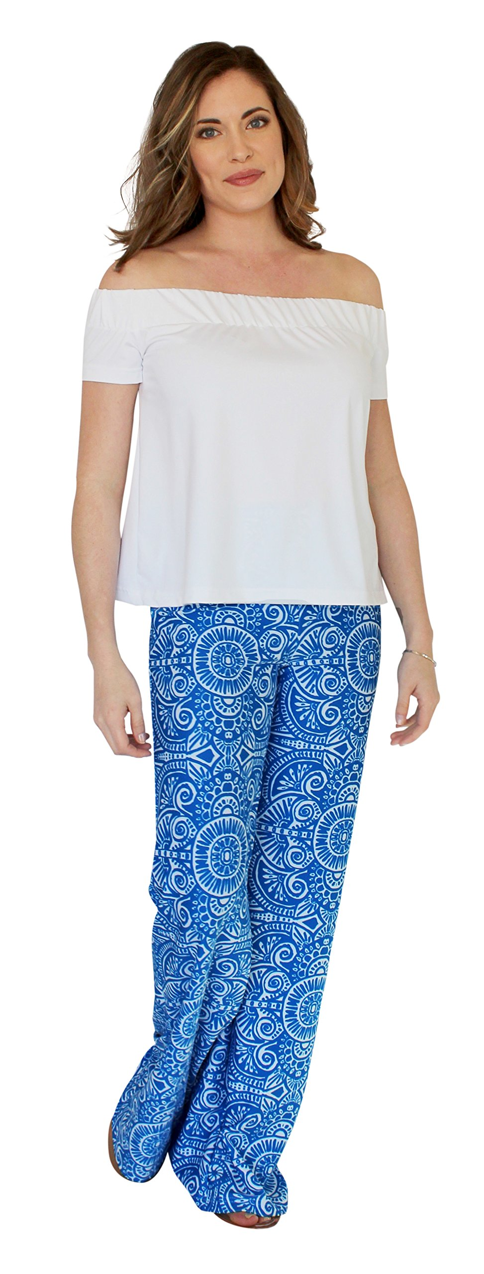 Tucker Wide Leg Palazzo Pant in Up Until Dawn (XS)