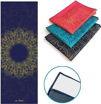 myMandala Non Slip Hot Yoga Towel Skidless with Corner Pockets 24