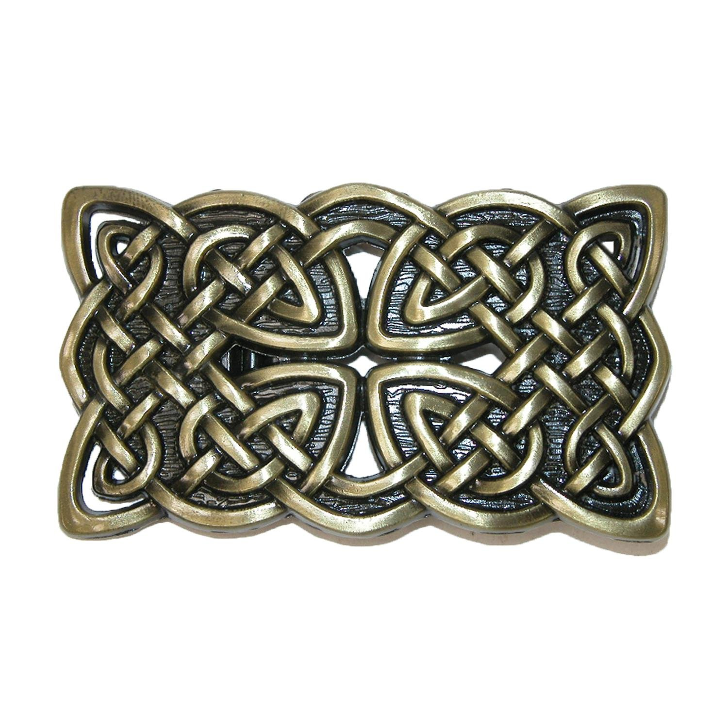 CTM Celtic Knot Belt Buckle, Antique Silver RR-1660-SIL