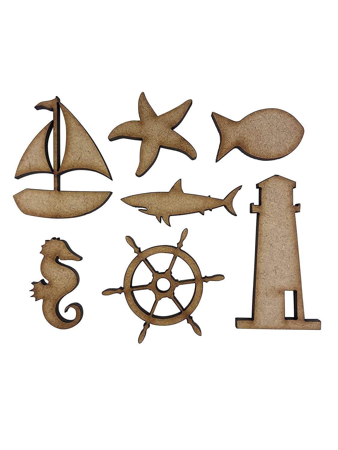 craft making MDF Sea Animals Creatures Laser Cut Out Shapes decoration