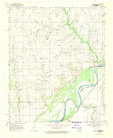 Topographic Map Oklahoma.Amazon Com Oklahoma Maps 1968 Fleetwood Ok Usgs Historical