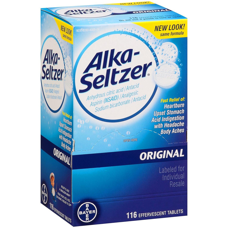 Alka Seltzer Antacid Tablets 116count