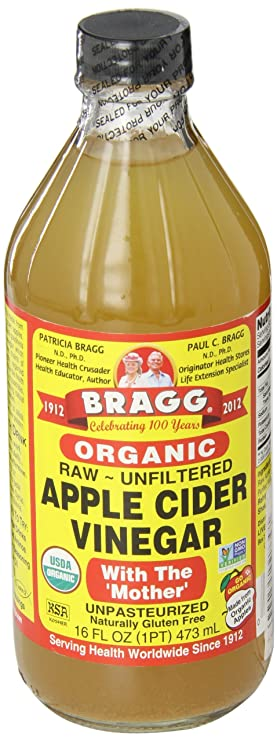 Bragg Organic Unfiltered Apple Cider Vinegar, Raw, 16 Ounce - 1 Pack