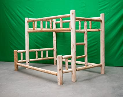 Amazon Com Midwest Log Furniture Premium Log Bunkbed Twin Over