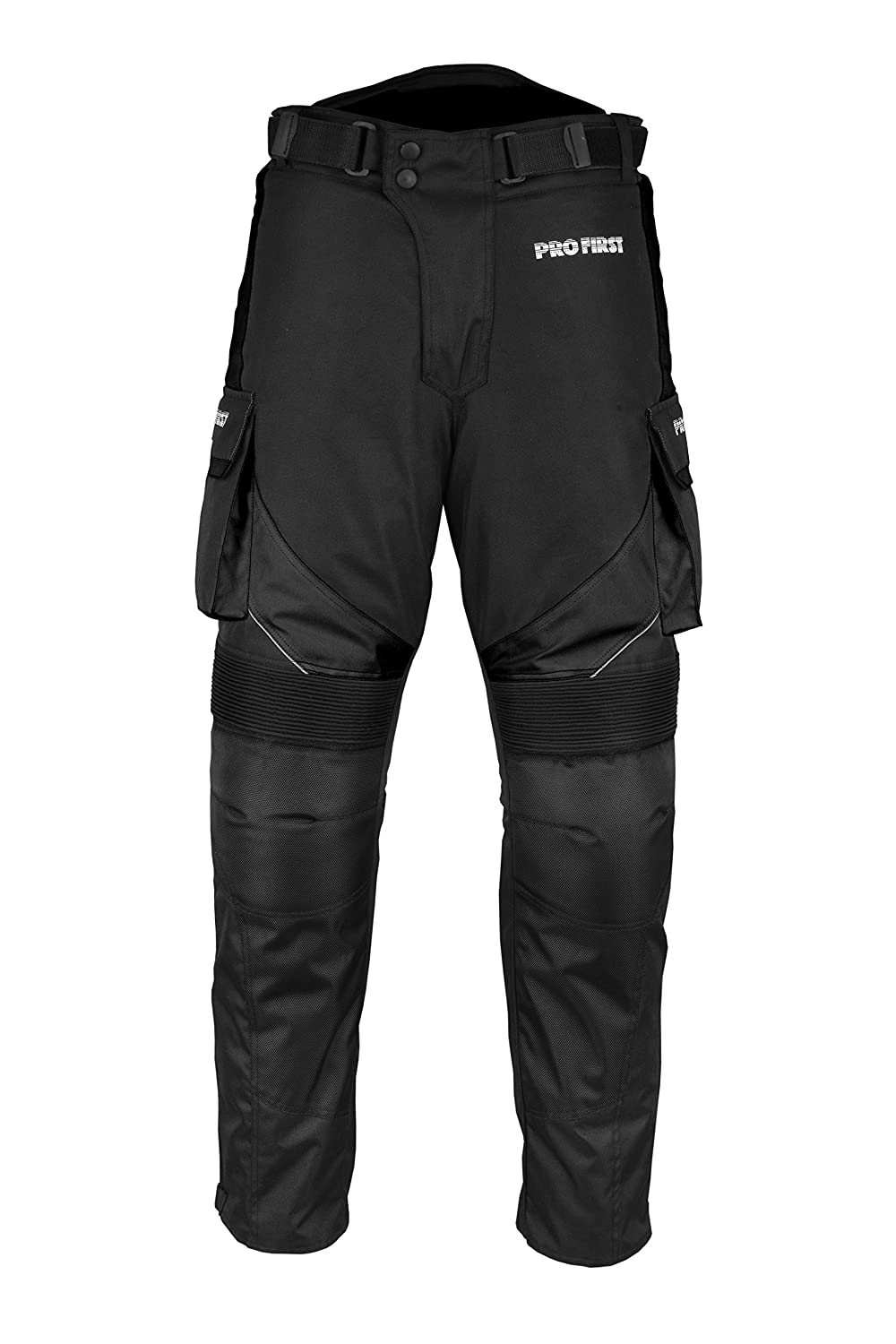 Motorbike Trouser Motorcycle Waterproof Removable Cordura Textile Big Pocket Trousers Long Pants Armor Armoured For Mens Women Boys Adult 29 Leg-Size 5Xtra Large