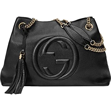 cee627c9f21 Image Unavailable. Image not available for. Color  Gucci Soho Large Leather  Chain Shoulder Handbag ...