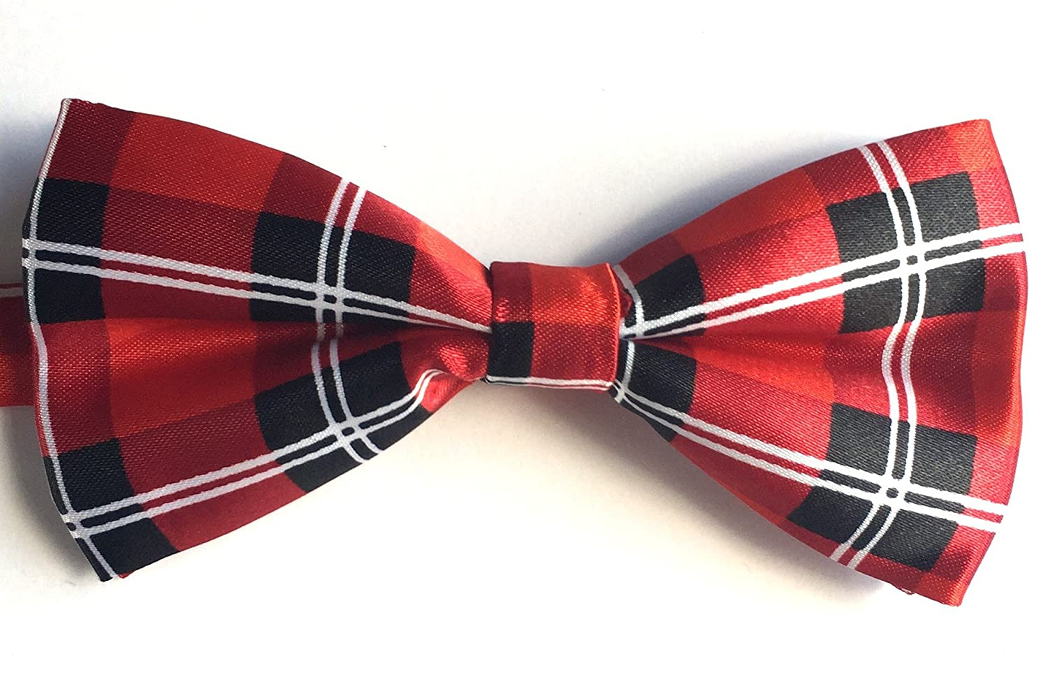 Mr Rodges 4.7 Inch Standard Size Mens Holiday Patterned Adjustable Strap and Clip On Bowtie