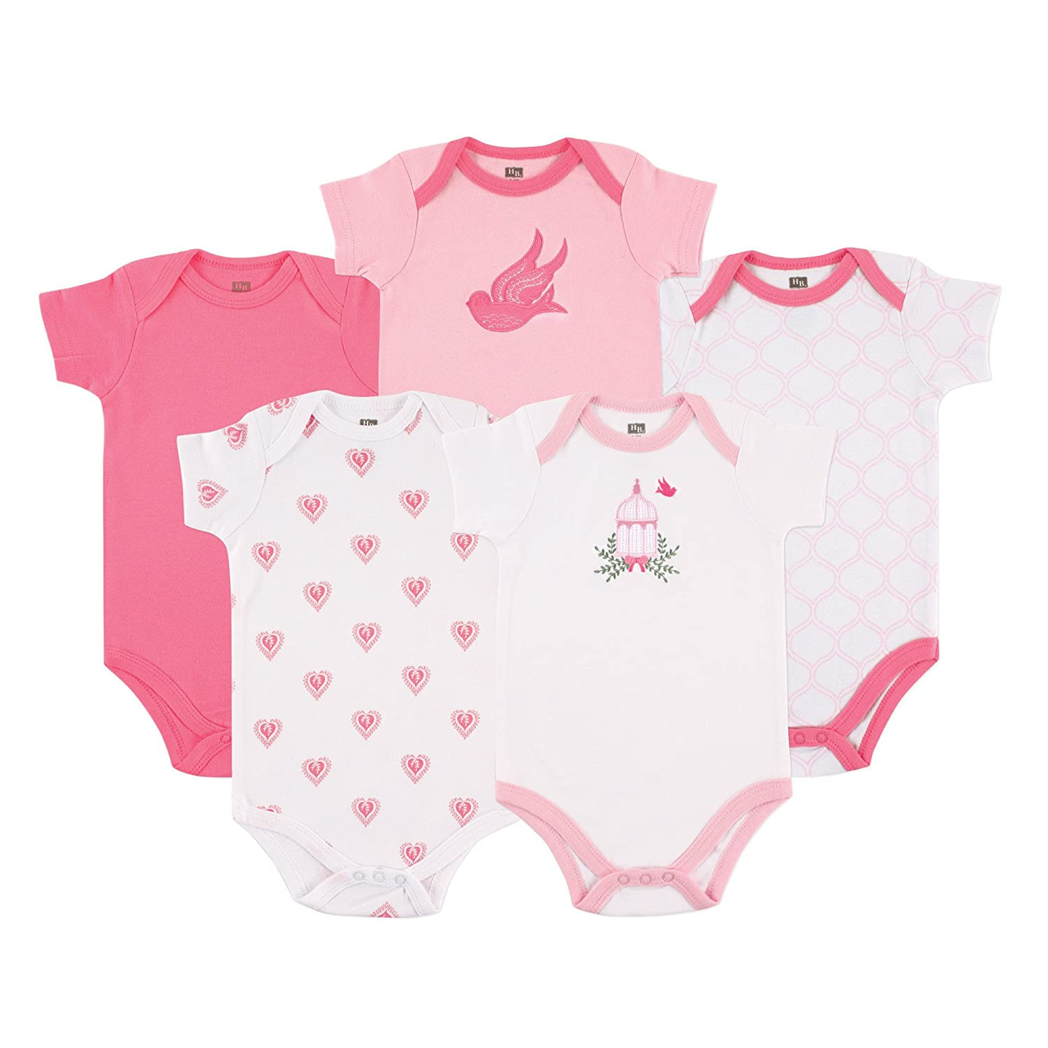 Hudson Baby Cotton Bodysuits, 10151444