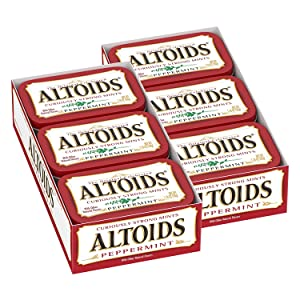 Altoids Classic Peppermint Breath Mints Singles Size 1.76-Ounce Tin 12-Count Box
