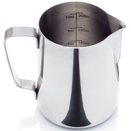 Cafe Luxe Milk Frothing Pitcher for Espresso Machines, Milk Frothers, Baristas & Latte Art (12 & 20 oz) Espresso Machines at amazon