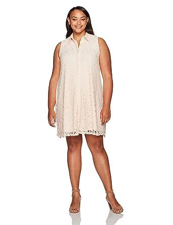 Sharagano Womens Plus Size Lace Trapeze Dress At Amazon Womens