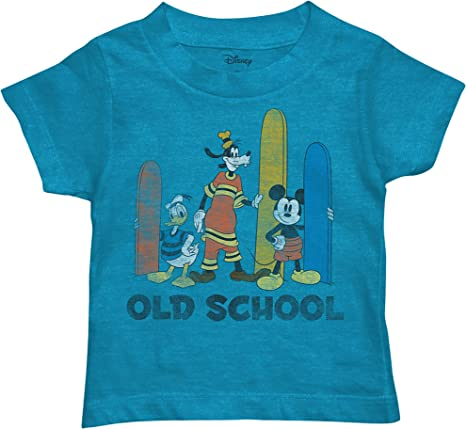 Disney Little Boys Mickey Mouse Pato Donald y Goofy Surf T-Camisa (2T)