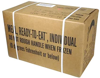 MRE (Meals Ready-to-Eat Box A, Genuine US Military Surplus, Menus 1-12 by  Rothco