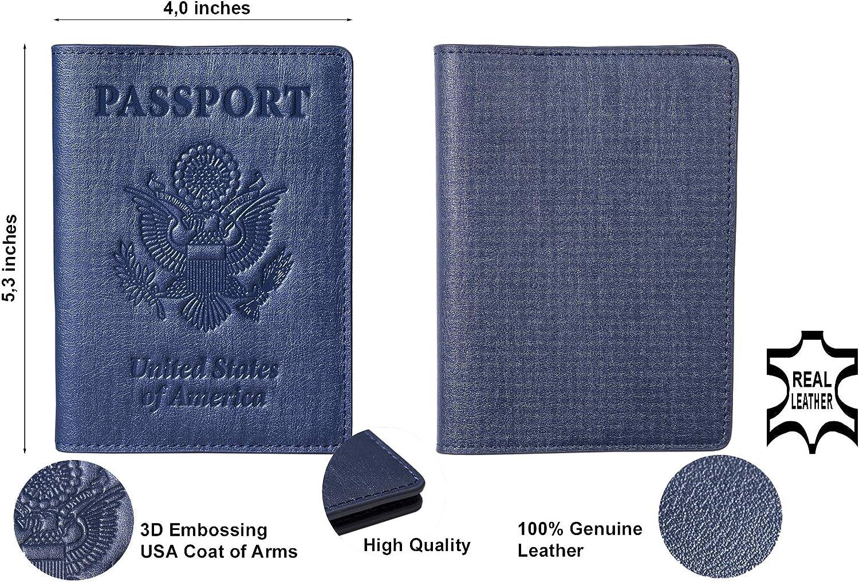 Stock Clearance Passport Holder Cover Leather Travel Wallet Organizer Men Women