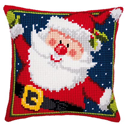Amazon.com: Vervaco Father Christmas Cross Stitch Cushion ...
