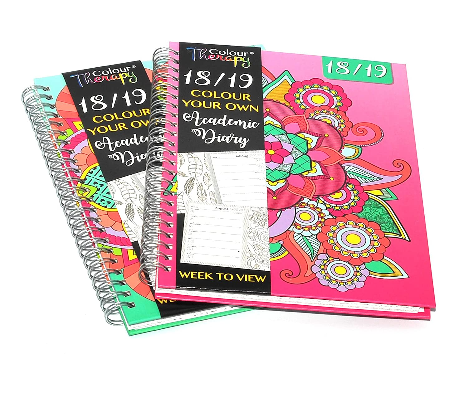 1x 2018 - 2019 A5 Academic Mid Week to View Diary Design at Random icompact