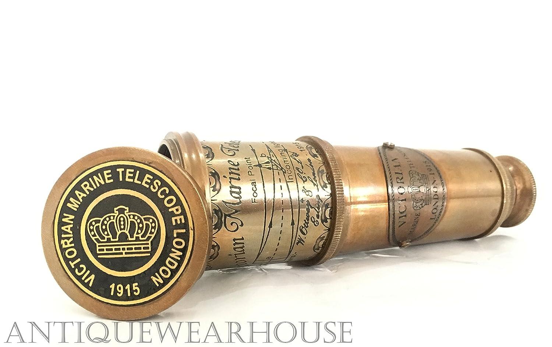 Antique Brass Pirate Working Telescope Vintage Nautical Victoria Spyglass Scope