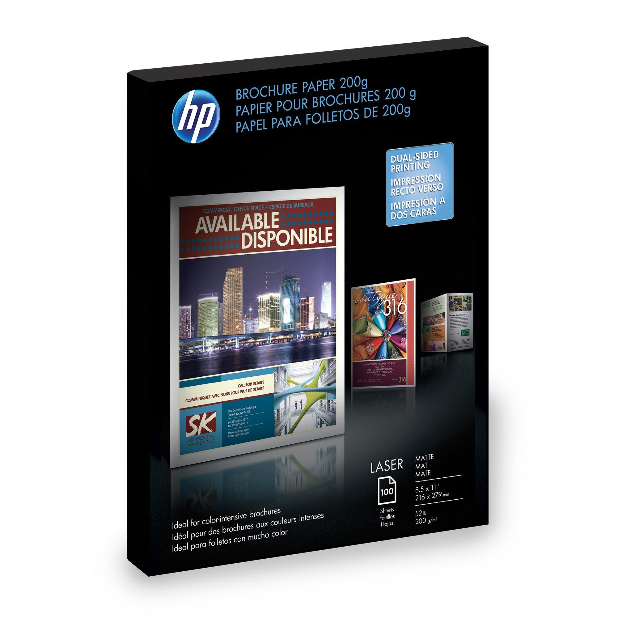 HP Q8824A Brochure Paper for Laser Printer, Matte, 8.5x11, 100 Sheets