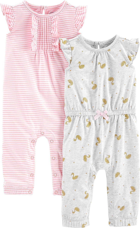 para beb/é ni/ña rosa Pink Stripe//Gold Swan 18 Months Mono Simple Joys by Carters