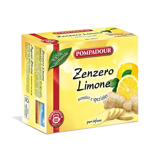 2 opinioni per Pompadour Infuso di Zenzero e Limone- 3 confezioni da 40 filtri [120 filtri]