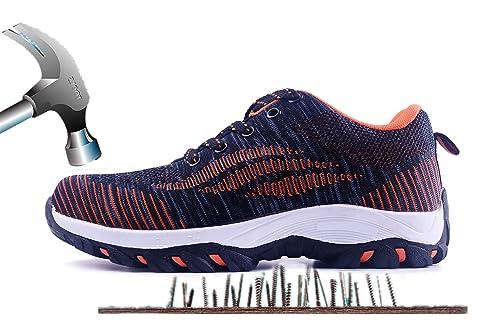Axcer S3 Scarpe da Lavoro per Uomo e Donna Comodissime Traspiranti Scarpe  Antinfortunistiche con Punta in 859b7a5c656