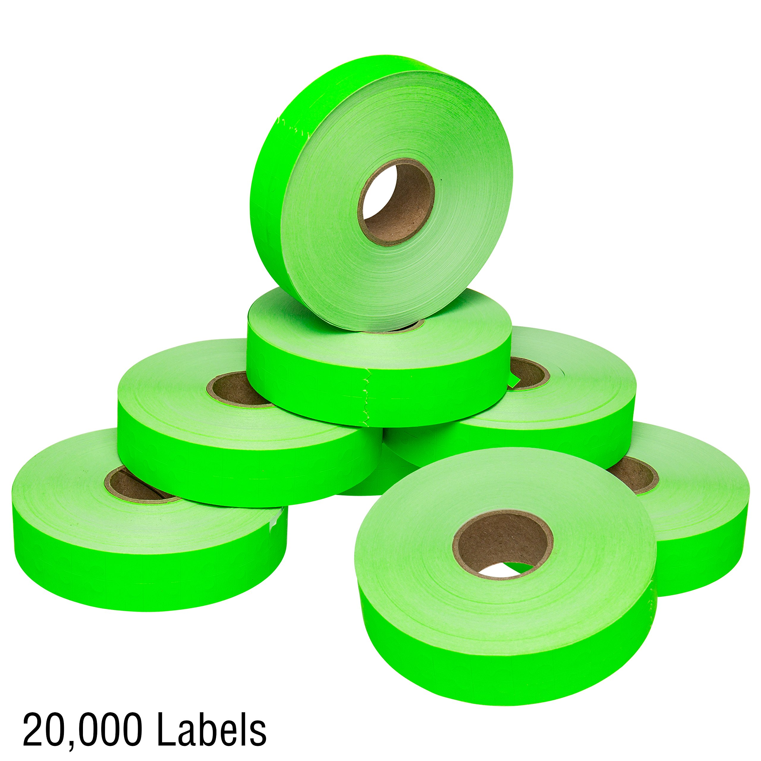Flou. Green Pricing Labels for Monarch 1131 Price Gun - 1 Sleeve, 20,000 Price Gun Labels - with Bonus Ink Roll by Perco (Image #6)