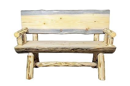 Super Amazon Com Montana Woodworks Montana Collection Half Log Inzonedesignstudio Interior Chair Design Inzonedesignstudiocom