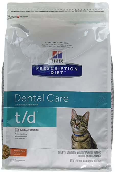 Amazon.com : Hills T/D Dental Health Cat Food 8.5 lb : Dry Pet Food : Pet Supplies