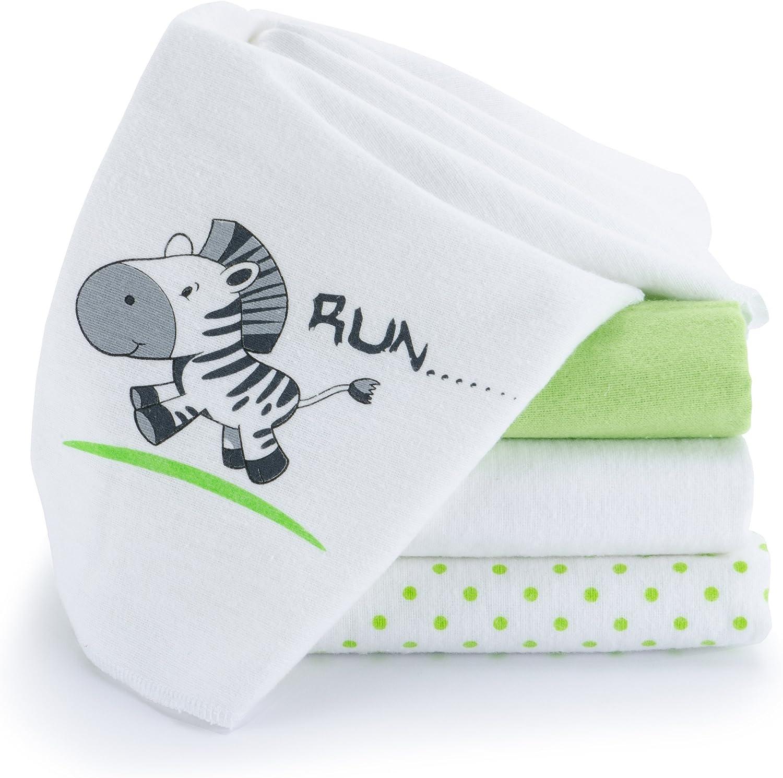 Lange bébé en mousseline de coton Lot de 10-80 x 80 cm Qualité supérieure ...
