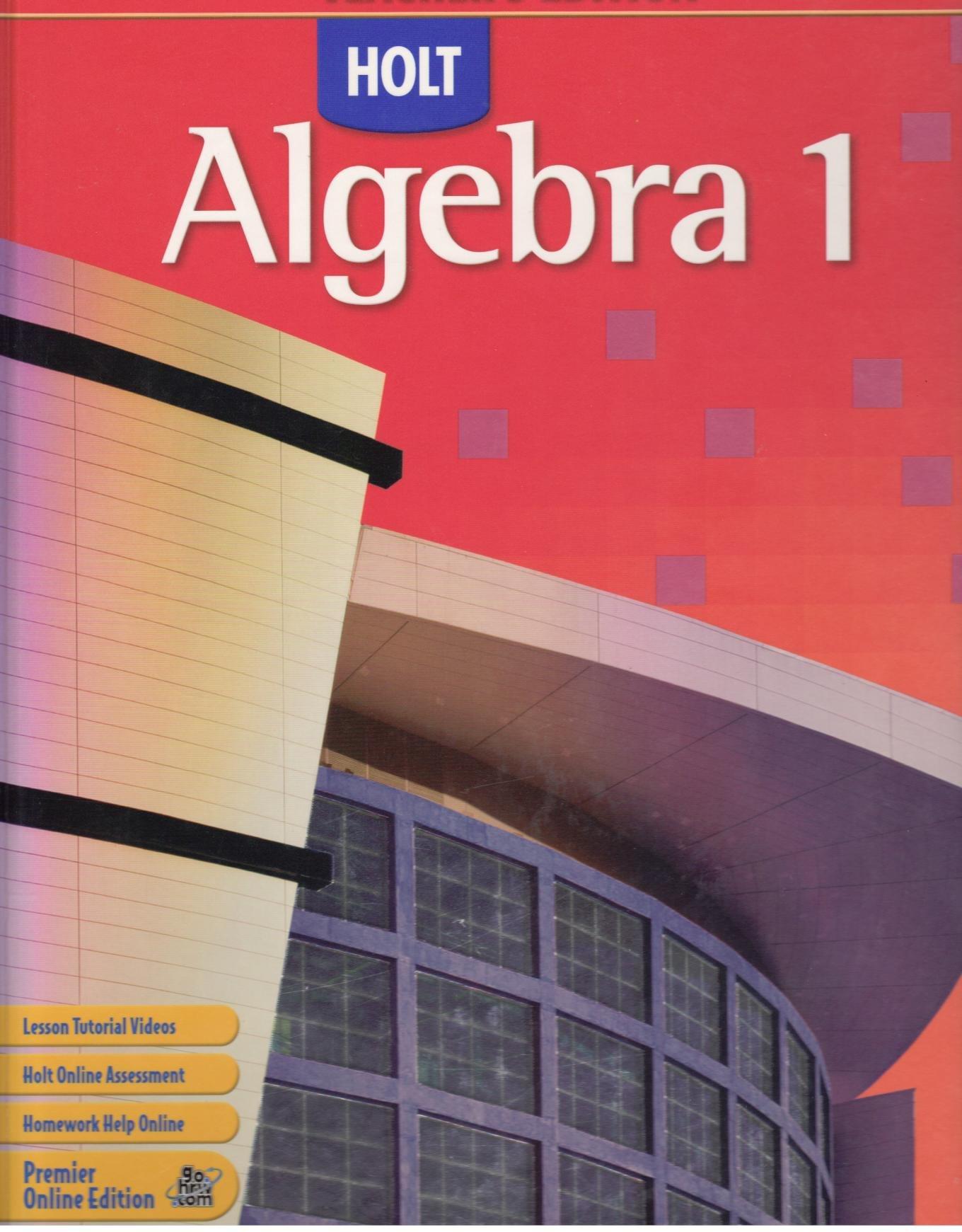 Holt Algebra 1 Teachers Edition EDWARD B BURGER 9790030385321 – Holt Algebra 1 Worksheet Answers