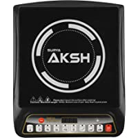SURYA AKSH Crystal Glass Plate 2000 Watts Induction Cooktop (Black)