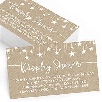 Amazon Gift Display Cards For Baby Shower Set Of 25 Gift