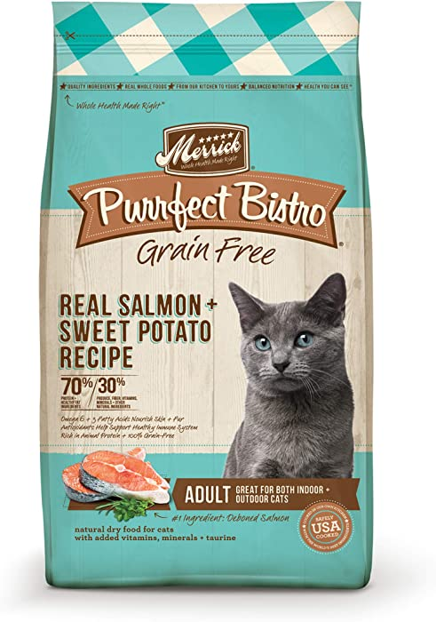 Merrick Purrfect Bistro Grain Free Healthy Adult Salmon Recipe 4.0 lb Bag