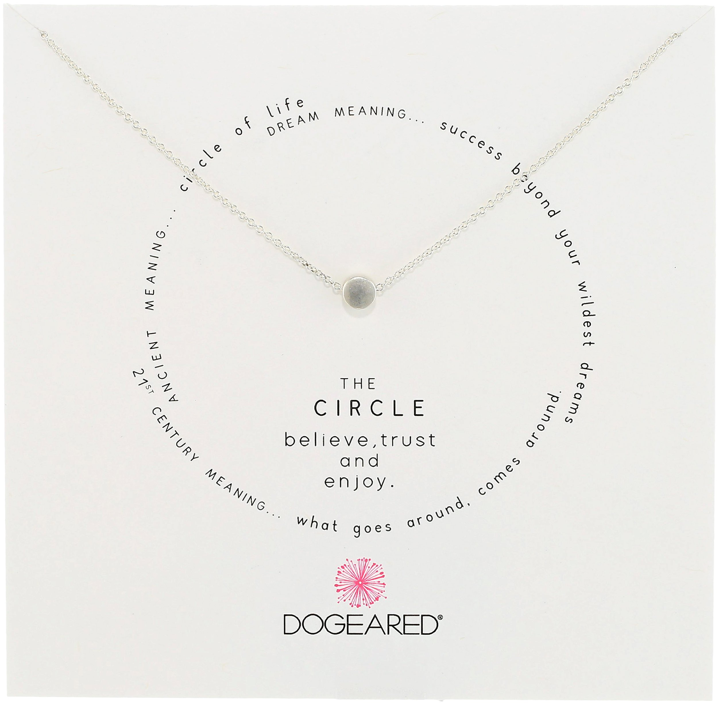 Dogeared Circle Sterling Silver Cirlce Charm Necklace, 16''+2'' Extender by Dogeared (Image #1)