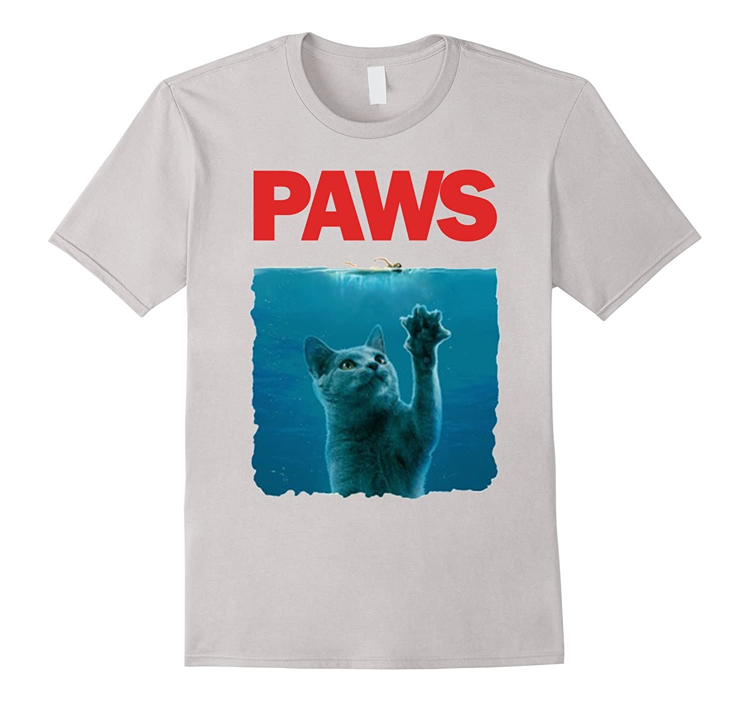 Paws Kitten Meow Parody Funny Tshirt Cat Lover Gifts-fa