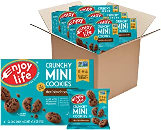product image for Enjoy Life Crunchy Mini Double Chocolate Cookies, Nut Free Cookies, Dairy Free, Soy Free, Non GMO Mini Cookies, Vegan Cookies, 6 Boxes (6 Snack Packs Each)