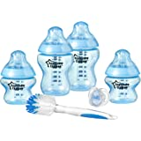 Tommee Tippee Closer To Nature Newborn Baby Boy's Blue Feeding Bottles Starter Set