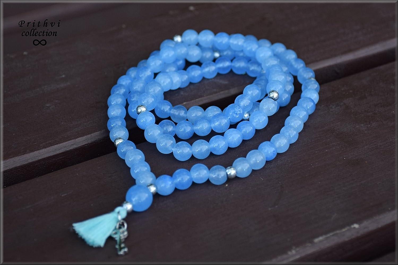 108 BEADS Light Blue Jade Mala