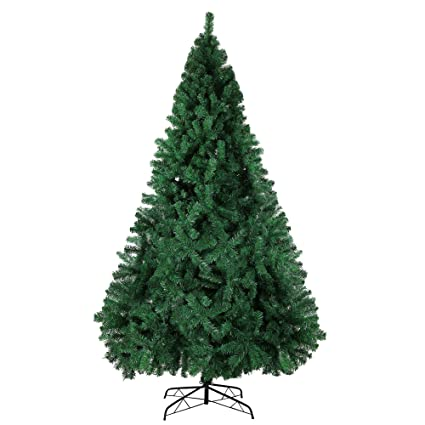 LuckyerMore 9 FT High Artificial Christmas Pine Tree Fake Xmas Tree 1000  Tip Full Tree Solid - Amazon.com: LuckyerMore 9 FT High Artificial Christmas Pine Tree