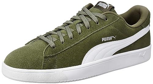 Puma Boy s Court Breaker Derby Olivine White-Silver Sneakers-11 (36736606) 8fc401ada
