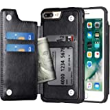 Arae Case for iPhone 7 Plus/iPhone 8 Plus - Wallet Case with PU Leather Card Pockets [Shockproof] Back Flip Cover for…