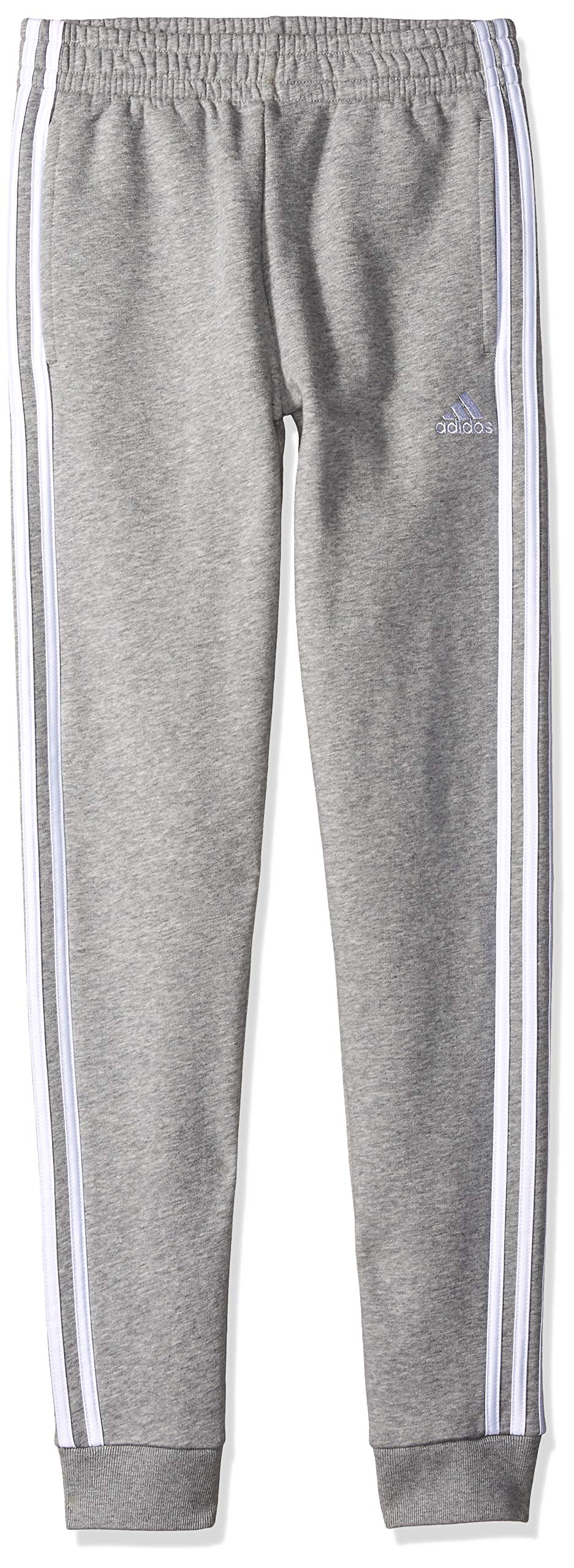 adidas Boys' Big Fleece Jogger Pant, Focus Medium Grey Heather, M (10/12) by adidas