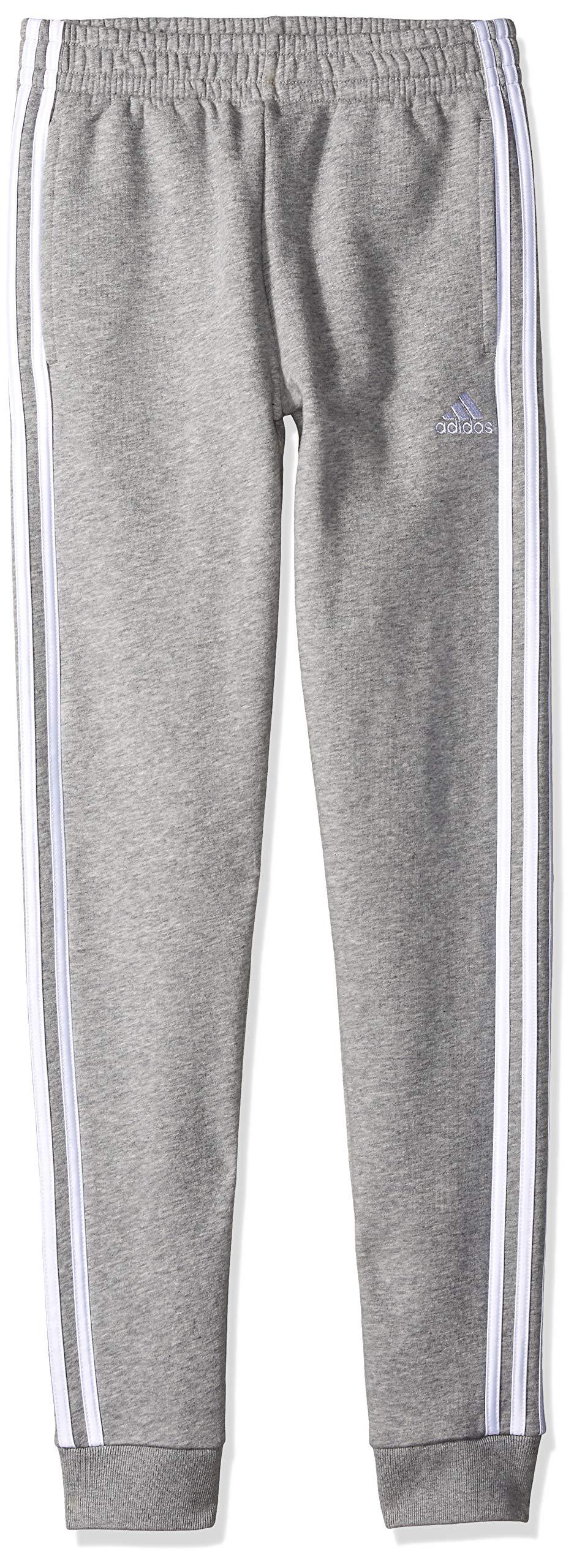 adidas Boys' Big Fleece Jogger Pant, Focus Medium Grey Heather, S (8)