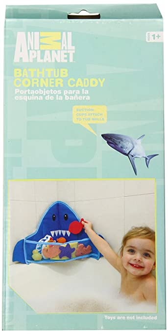 Amazon.com : Animal Planet Corner Bath Toy Caddy, Shark : Bathtub Toy Bags : Baby