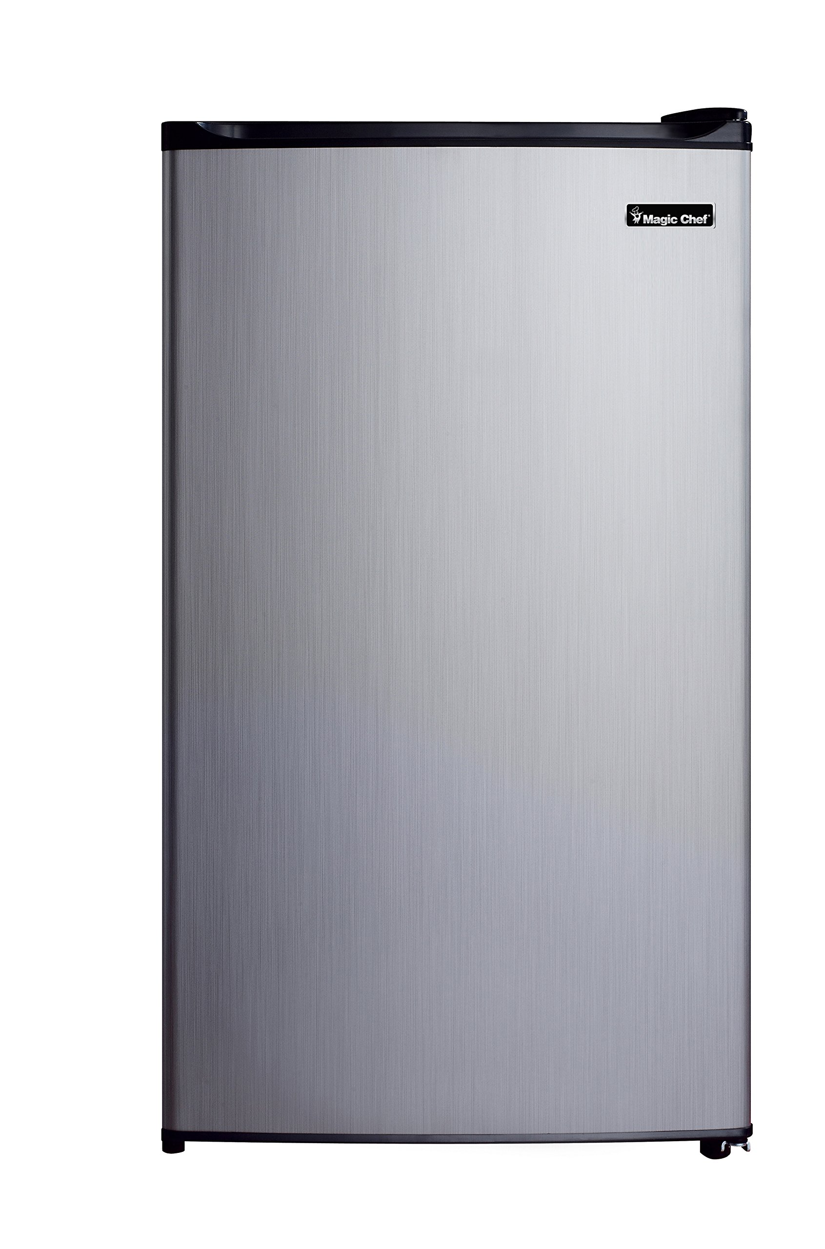 Magic Chef MCBR350S2 Refrigerator, 3.5 cu. ft., Stainless Look