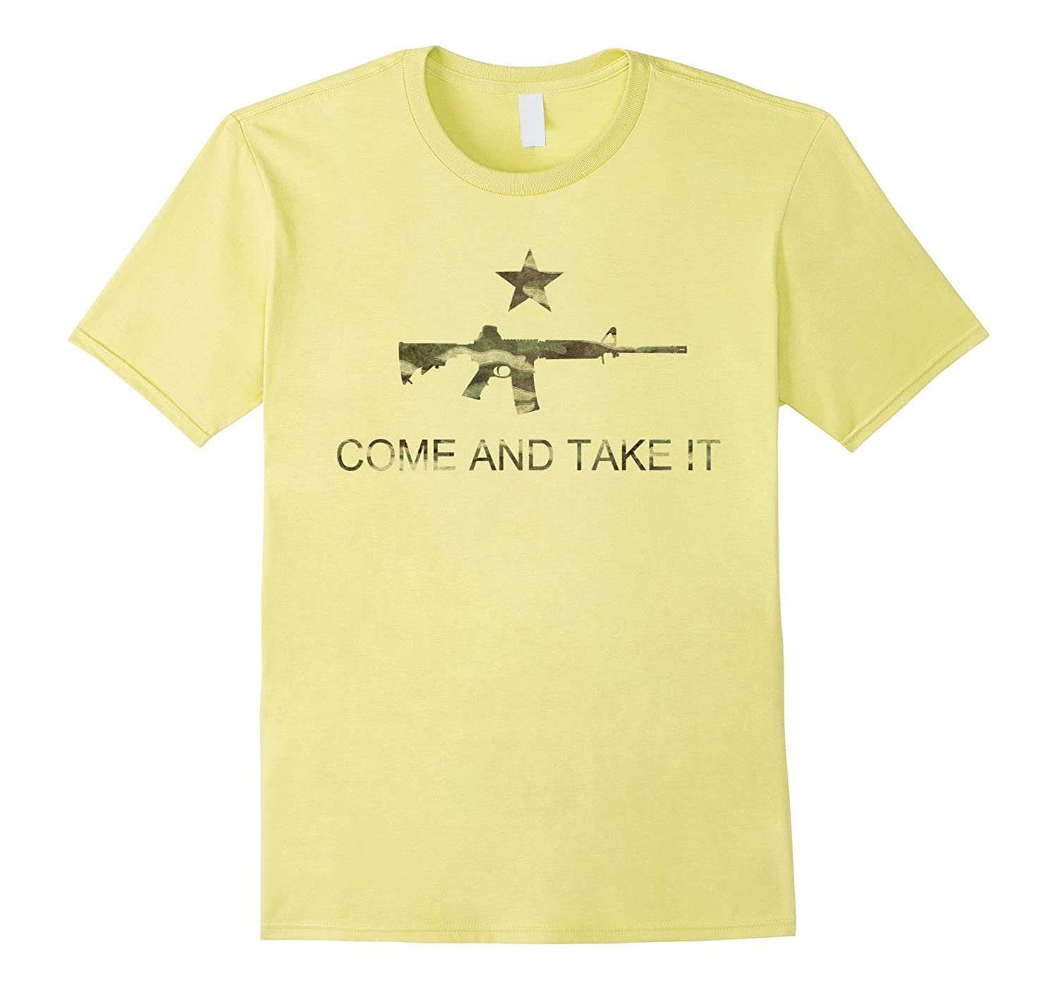 Come and Take it Flag T-Shirt with Ar-15 in Camo-FL