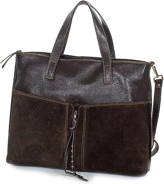 c5130ccde3141 Ledertasche Handtasche aus weichem Rindsleder made in Italy (39 x 33 x 9 cm)
